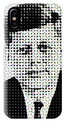 John F Kennedy In Dots IPhone Case