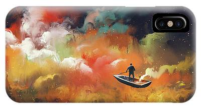 Journey To Outer Space IPhone Case