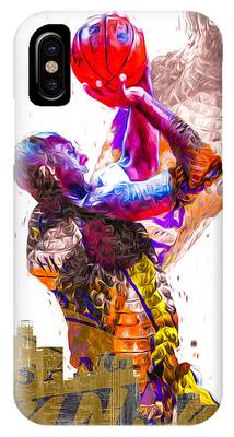 Kobe Bryant Los Angeles Lakers Digital Painting Snake 1 IPhone Case