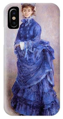Blue Dress Paintings iPhone Cases
