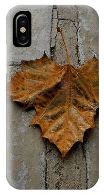 IPhone Case featuring the photograph Leaf Cross by Patricia Strand
