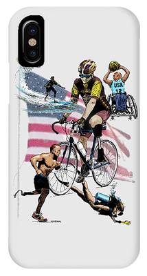 Independance Day Drawings iPhone Cases