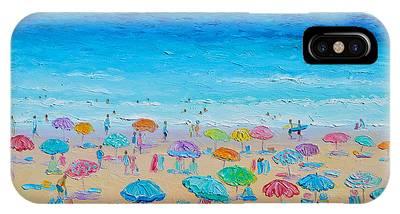 Umbrellas On The Beach Phone Cases