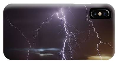 IPhone Case featuring the photograph Lightning At Dusk by Brad Wenskoski