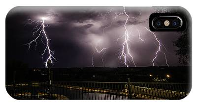 IPhone Case featuring the photograph Lightning Strikes by Chris Cousins