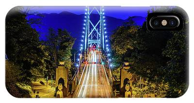 Lions Gate Bridge At Night IPhone Case