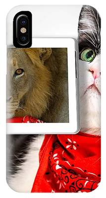Lions Heart Cat IPhone Case by Benny Marty