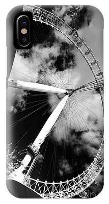London Ferris Wheel Bw IPhone Case