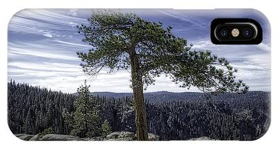 IPhone Case featuring the photograph Lonesome Tree by Chris Cousins