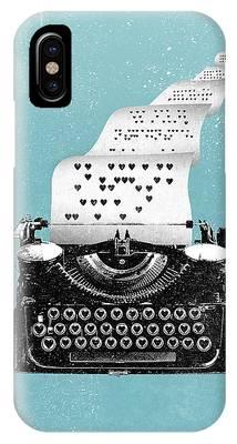 Love Typewriter Poster IPhone Case