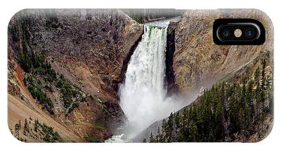 IPhone Case featuring the photograph Lower Falls by Ronnie and Frances Howard