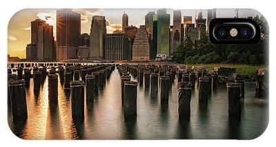 Lower Manhattan Sunset Twinkle IPhone Case