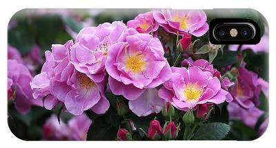 IPhone Case featuring the photograph Lucky Floribunda Roses by Rona Black