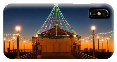 Manhattan Pier Christmas Lights IPhone Case