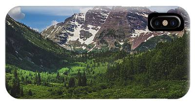 IPhone Case featuring the photograph Maroon Lake And Maroon Bells by Andy Konieczny