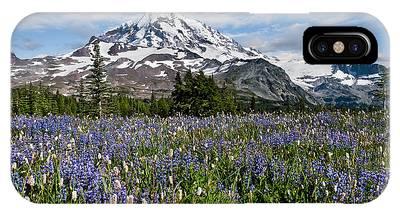 Meadow Of Lupine Near Mount Rainier IPhone Case