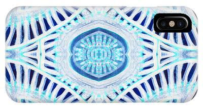Phytoplankton Mixed Media iPhone Cases