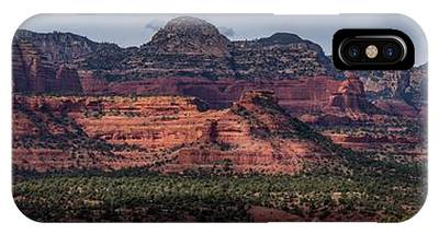 IPhone Case featuring the photograph Mescal Mountain Panorama by Andy Konieczny