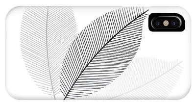 Monochrome Leaves IPhone Case