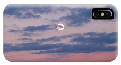 Moonrise In Pink Sky IPhone Case