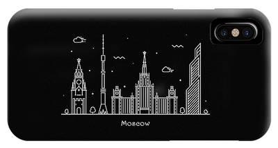 Moscow Skyline Phone Cases