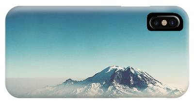 An Aerial View Of Mount Rainier IPhone Case