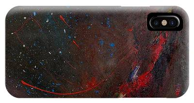 IPhone Case featuring the painting Nebula by Michael Lucarelli