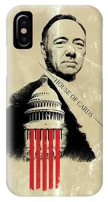 Netflix House Of Cards Frank Underwood Portrait  IPhone Case
