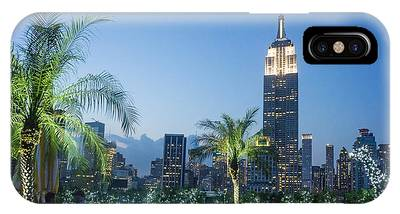 IPhone Case featuring the photograph New York 230 Fith Rooftop Bar  by Juergen Held