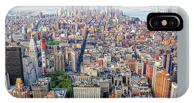 IPhone Case featuring the photograph New York Aerial View by Benny Marty