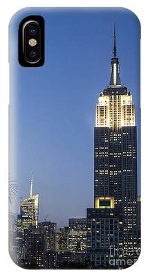 IPhone Case featuring the photograph New York Empire State Building  by Juergen Held