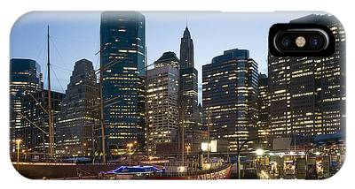 IPhone Case featuring the photograph New York Manhattan Seaport by Juergen Held