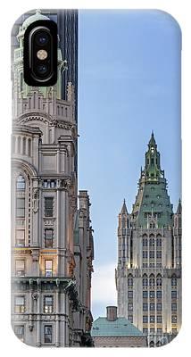 IPhone Case featuring the photograph New York Woolworth Building  by Juergen Held