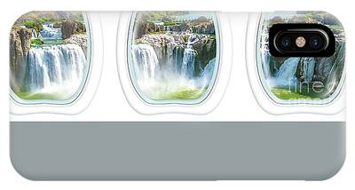 IPhone Case featuring the photograph Niagara Falls Porthole Windows by Benny Marty