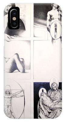 Michaelangelos David Drawings iPhone Cases