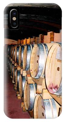 IPhone Case featuring the photograph Oak Red Wine Barrels by Donna Proctor