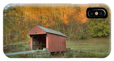 Old Red Or Walkersville Covered Bridge IPhone Case