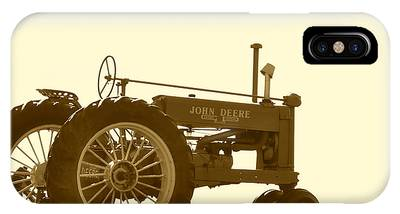 Old Tractor IIi In Sepia IPhone Case
