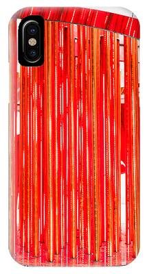 Olympic Neon Flame IPhone Case by Rona Black