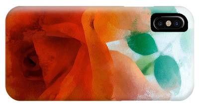 IPhone Case featuring the digital art Orange Rose by Patricia Strand
