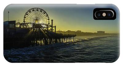 IPhone Case featuring the photograph Pacific Park Ferris Wheel by Brad Wenskoski