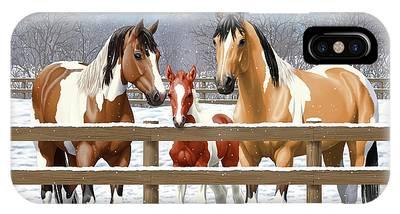 Chestnut Paint Horse Phone Cases