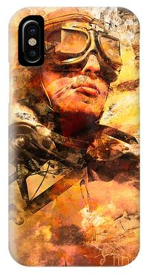 Painted Pilots At War IPhone Case by Jorgo Photography - Wall Art Gallery