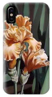 Peach Iris IPhone Case