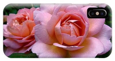 IPhone Case featuring the photograph Peachy Pink by Rona Black