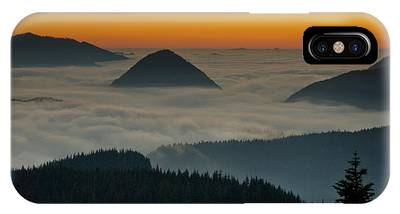 Peaks Above The Fog At Sunset IPhone Case