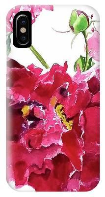 Peony IPhone Case by Patti Ferron
