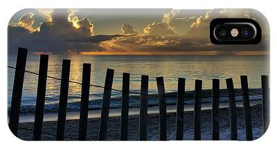 Picket Fence On The Beach IPhone Case