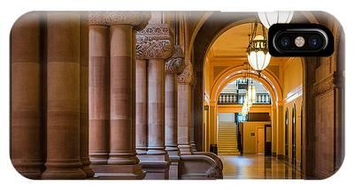 IPhone Case featuring the photograph Pillar Hallway by Brad Wenskoski