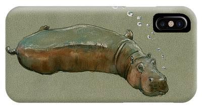 Hippopotamus Phone Cases